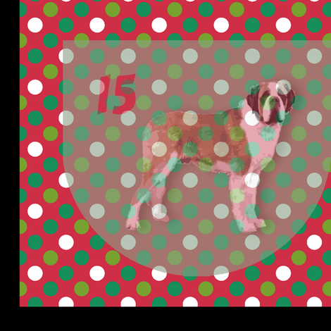 24 dogs advent calendar fabric by lucybaribeau on Spoonflower - custom fabric