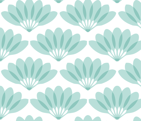 Fan mint fabric by myracle on Spoonflower - custom fabric