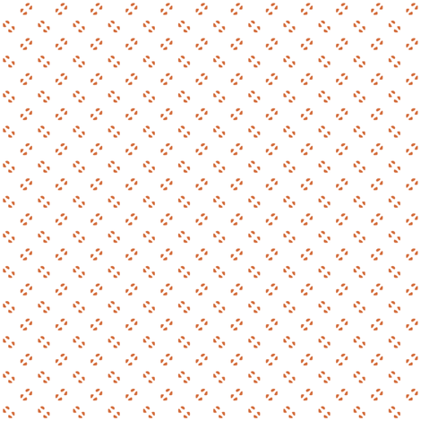 Simple speckles in coral on white fabric by bargello_stripes on Spoonflower - custom fabric