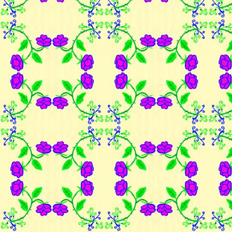 FLORA FLOWER GRACIA fabric by angelsgreen on Spoonflower - custom fabric