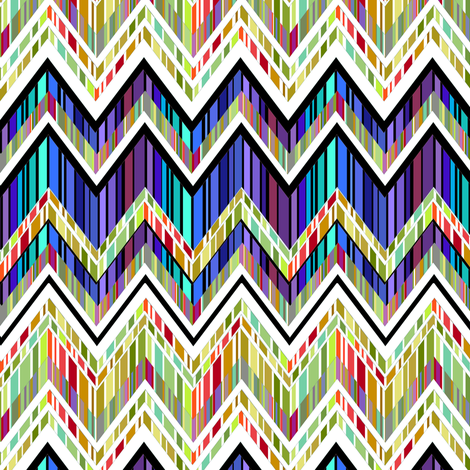 Zig Zag Stained Glass fabric by joanmclemore on Spoonflower - custom fabric