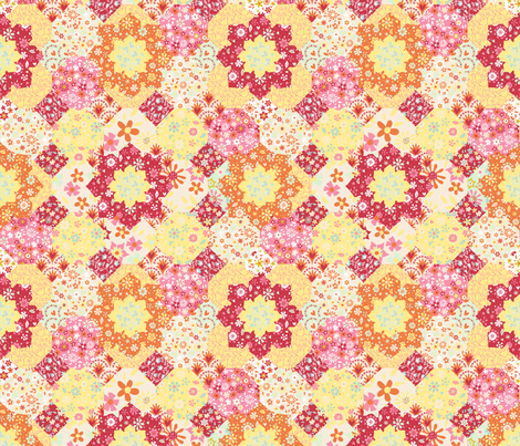 Patchwork fabric by kezia on Spoonflower - custom fabric