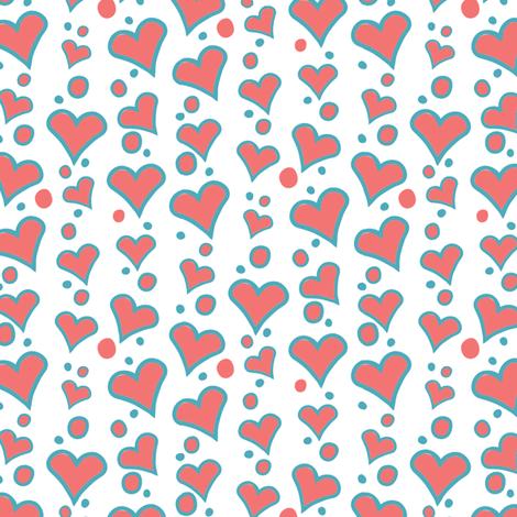 Falling Hearts fabric by kezia on Spoonflower - custom fabric