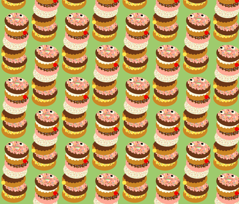 donut stack fabric by heidikenney on Spoonflower - custom fabric
