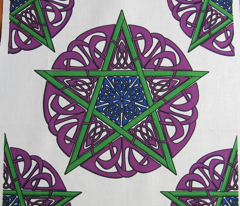 Knotwork Pentacles on White