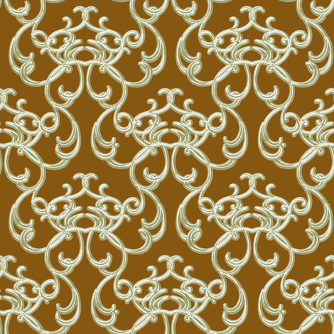 Damask Brown  fabric by joanmclemore on Spoonflower - custom fabric