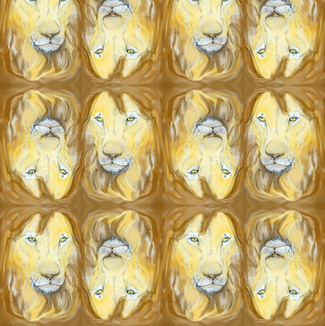 Lion portrait 2 fabric by eclectic_house on Spoonflower - custom fabric