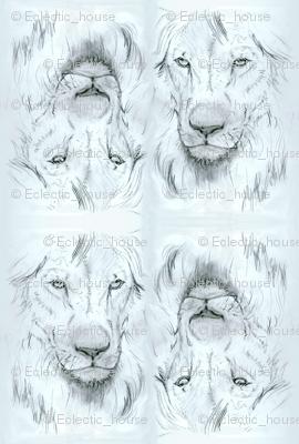 Lion portrait monochrome2