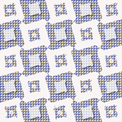 white squares with little flowers