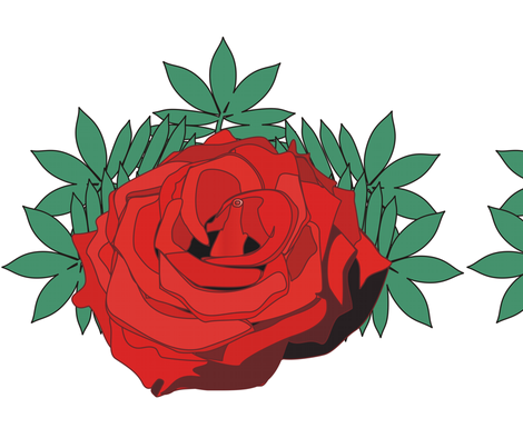 Red Rose fabric by moonduster on Spoonflower - custom fabric