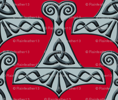 Thor's Hammer on Red