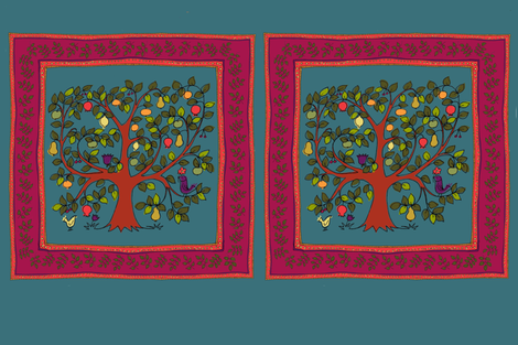 Tree of Life - Cushion cover fabric by woodledoo on Spoonflower - custom fabric