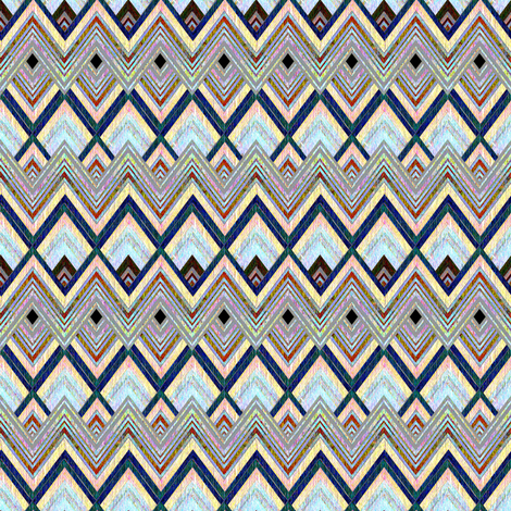 Chevron Luminous Mist  fabric by joanmclemore on Spoonflower - custom fabric