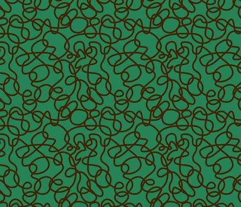 BorGaGa-Scroll work-Green fabric by deesignor on Spoonflower - custom fabric