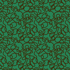 BorGaGa-Scroll work-Green