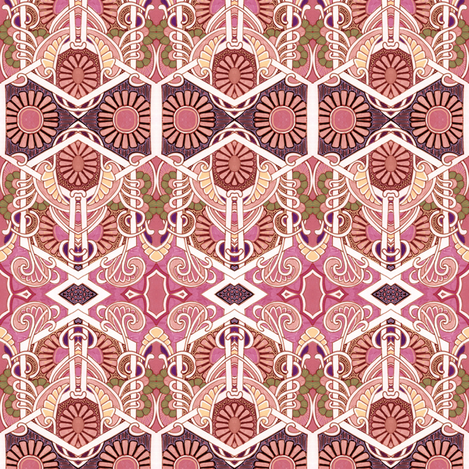 Attack of the Pink Daisy Army fabric by edsel2084 on Spoonflower - custom fabric