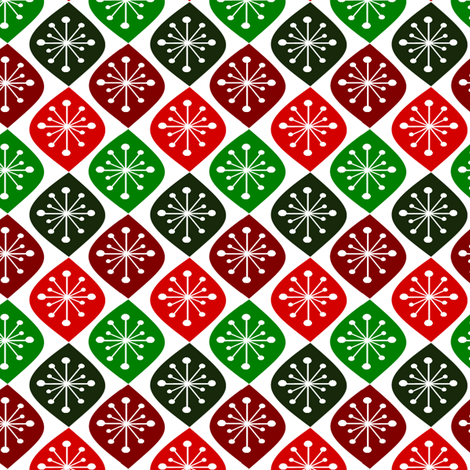 Vintage Christmas fabric by simple_felicities on Spoonflower - custom fabric