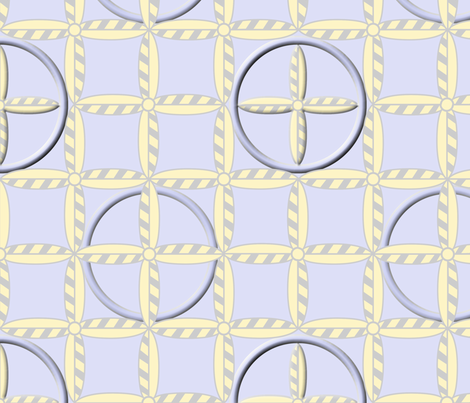 Hoops in Blue Beach fabric by glimmericks on Spoonflower - custom fabric