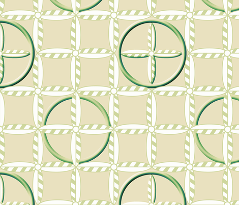 Hoops in Green Wheat fabric by glimmericks on Spoonflower - custom fabric