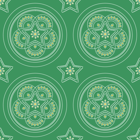 Parol Hanging Ornament (Green) fabric by gracedesign on Spoonflower - custom fabric