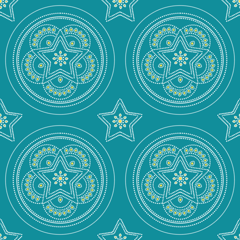 Parol Hanging Ornament (Blue) fabric by gracedesign on Spoonflower - custom fabric
