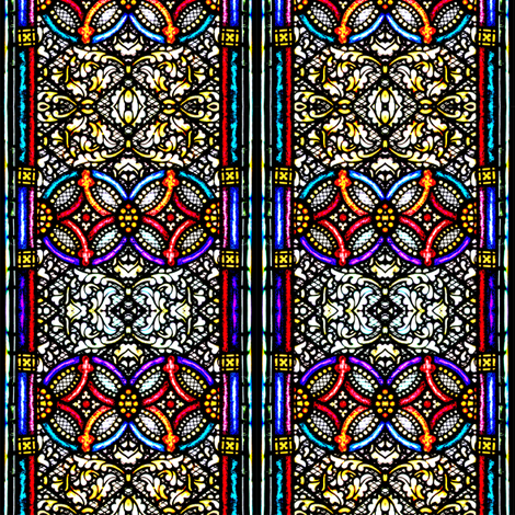 Stained Glass fabric by glennis on Spoonflower - custom fabric