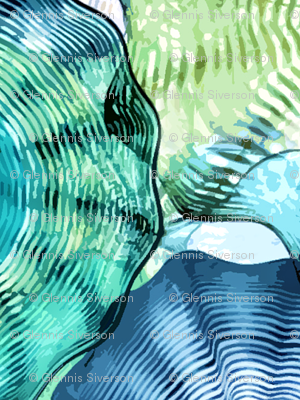 Glass in Blue and Green