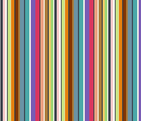 Stripes full of colors fabric by kato_kato on Spoonflower - custom fabric