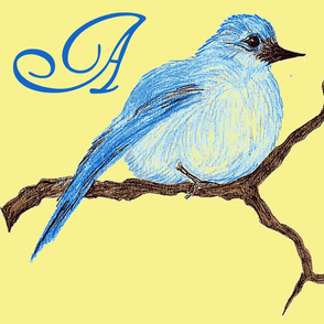blue bird monogram