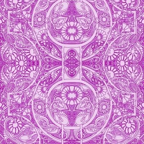 In a Victorian Lace Head Space (magenta)
