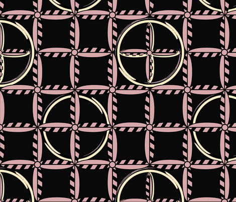 Hoops in Pink Poodle Skirt fabric by glimmericks on Spoonflower - custom fabric
