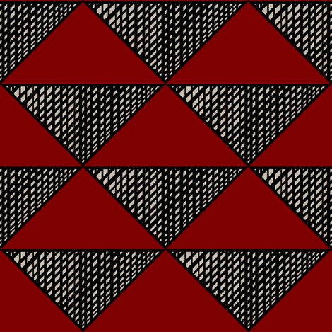 Triangle Red fabric by pond_ripple on Spoonflower - custom fabric