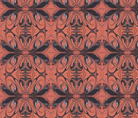 orangeblack fabric by katehasteddesigns on Spoonflower - custom fabric