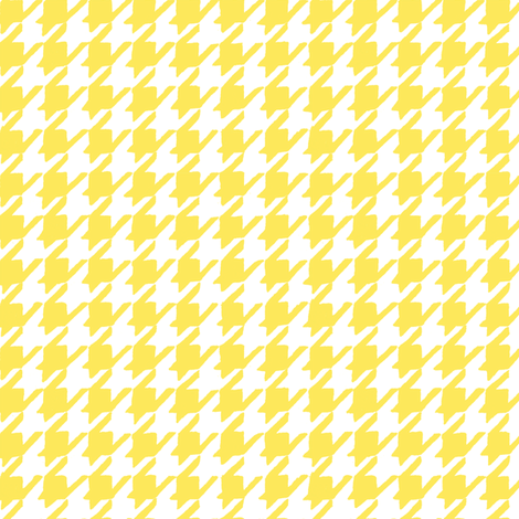 Happy Yellow Houndstooth fabric by pattysloniger on Spoonflower - custom fabric