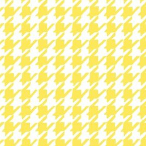 Happy Yellow Houndstooth