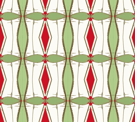 Holiday Origami- Creeper Style, large fabric by susaninparis on Spoonflower - custom fabric