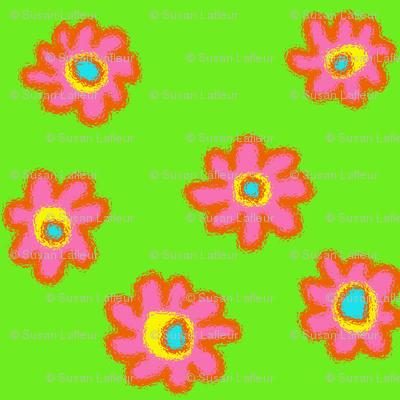 Bright Flowers-Green