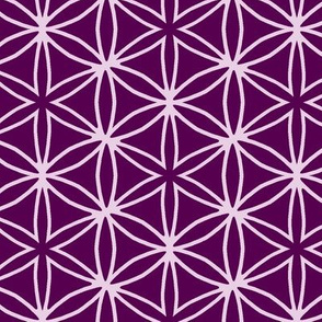 flower grid purple
