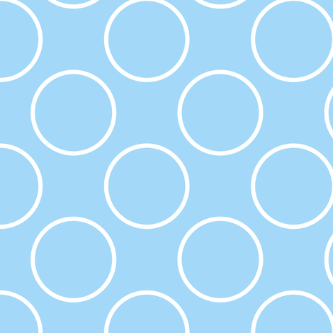Blue Circle fabric by shelleymade on Spoonflower - custom fabric