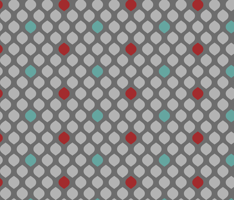 GrayTealRed fabric by mrshervi on Spoonflower - custom fabric
