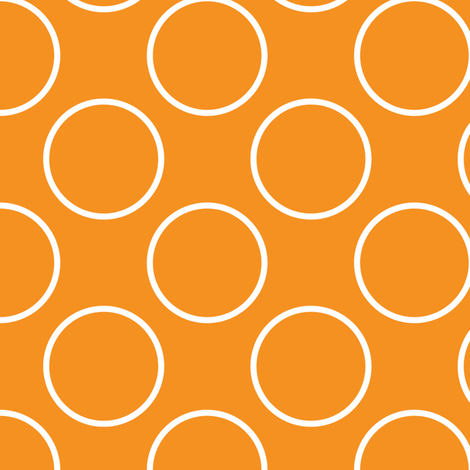 Orange Circles fabric by shelleymade on Spoonflower - custom fabric