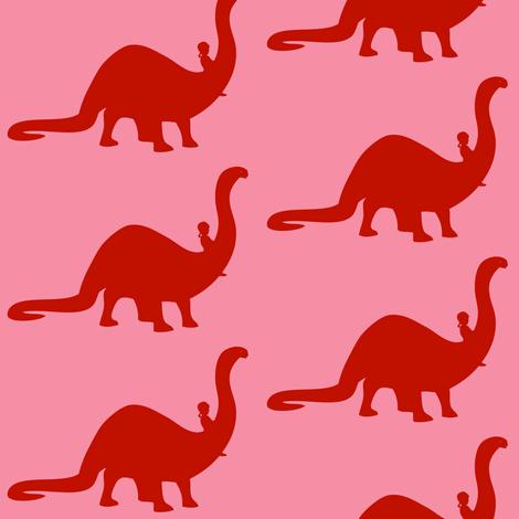 Apatosaurus Ride fabric by laurawilson on Spoonflower - custom fabric