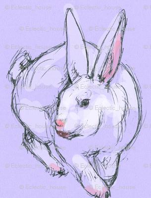 Purple Bunny Doodle