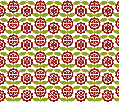 Baby Owls Christmas Flowers fabric by natitys on Spoonflower - custom fabric