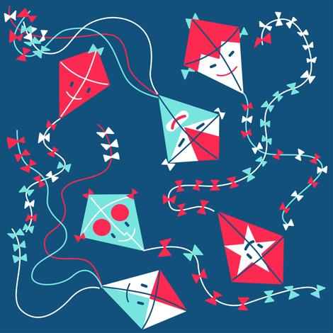 Autumn Kite Flight fabric by hitz on Spoonflower - custom fabric