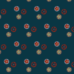 flower blossoms - navy