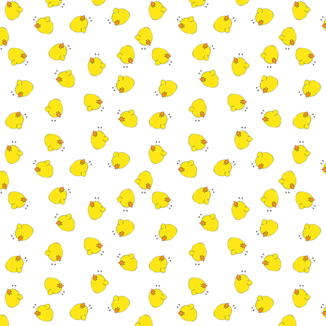 Birds Scatter White fabric by shelleymade on Spoonflower - custom fabric