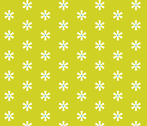 Cally Creates- Star flower zest fabric by callycreates on Spoonflower - custom fabric