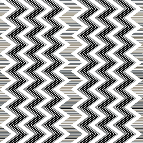Chevron Contrast vertical  fabric by joanmclemore on Spoonflower - custom fabric
