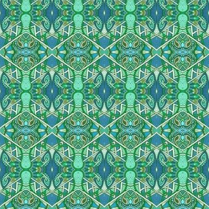 Hexagonal Zig Zag Abstract # 854104
